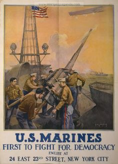 Examples of Propaganda from WW1 | WW1 Marine Posters Page 10