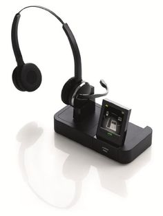 Jabra PRO 9465 Duo Wireless Headset with Touchscreen for Deskphone, Softphone & Mobile Phone