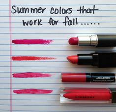 Beauty Bits: Summer Lip Colors That Work For Fall