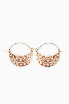 Rising Crescent Earrings / ShopSosie #shopsosie #sosie