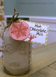 Homemade Hot Chocolate. Great for teacher or neighbor gifts!