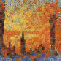 Mosaics: Monet's Venice  ///  One of Monet's paintings scrambled to obtain a Venice view he never painted