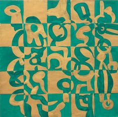 Carla Accardi - Verdeoro - Gouache on paper - cm. 49,4x49,8