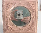 Very Ornate Shabby Pale Pink Chic Chippy Mirror Cottage Paris
