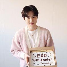 Allurekorea update on exo's anniversary with Kyungsoo, Exo Chanyeol, K Pop, Chen, Kai, Exo Korea, Exo 2014, 8th Anniversary, Exo Album