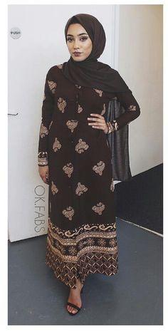 Desi hijabi in brown