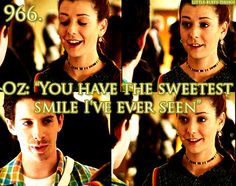I always thought Oz was the perfect boyfriend.  Tara is great, but I will always love Oz a little bit more.
