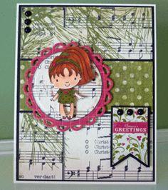 """Christmas in July - """"Season's Greetings"""" card by Janet Zeppa, Design Team member."""