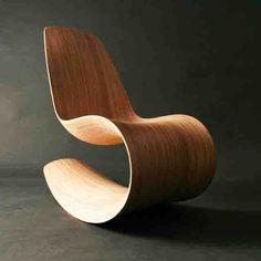 Wooden Rocking Chair Savannah Rocker III by jolyonyates on Etsy Silla Art Deco, Furniture Decor, Furniture Design, Wooden Rocking Chairs, Cool Chairs, Wood Design, Contemporary Furniture, Chair Design, Home Decor