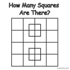 A picture logic puzzle for winter evenings. Can you count the number of squares on the picture? Concentrate yourself and solve this maths picture logic puzzle. Share if you like.