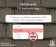 Here's the answer from our trivia this morning! Did you guess correctly? Let us know! #triviawednesday #THremodeling