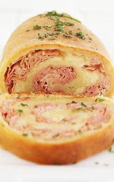 3-Ingredient Baked Ham And Cheese Rollups Recipe - (thecomfortofcooking)