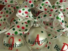 I want to make an ornament for each family member with their name on it, and then have them hang it on the tree each year, would be a super cute tradition to start.