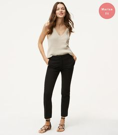 Slim Pants in Marisa Fit color Black