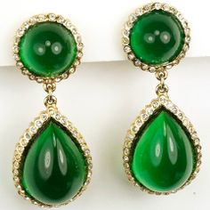 Mimi Di N Gold Pave and Emerald Cabcohons Pendant Clip Earrings & 31 best MIMI DI N images on Pinterest | Fashion vintage Vintage ...