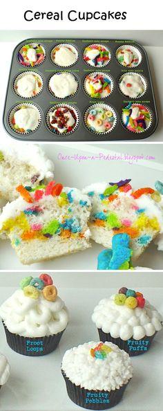 Cupcakes de cereal