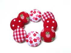 Hey, I found this really awesome Etsy listing at https://www.etsy.com/listing/230039121/fabric-buttons-red-mix-medium-buttons