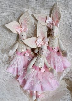 Stuffed Easter Bunny Easter Bunny   Angel by HunterLakeCrafts