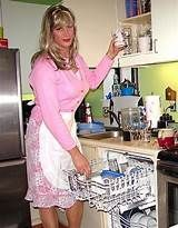 A very nice look that is appropriate for a sissy housewife! Feminized Husband, Feminized Boys, Flare Dress, Dress Up, French Maid Dress, My Guy, Housewife, Tgirls, Crossdressers