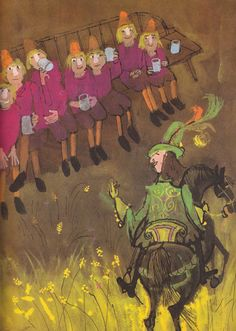 """Alice and Martin Provensen's illustrations from """"The Provensen Book of Fairy Tales"""" (1971): illustration from """"The Seven Simons"""" by Ruth Manning-Sanders"""