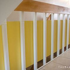 Stylish staircase babyproofing