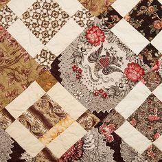 Early Quilt – Uneven 9-patch T-Quilt | Mingei: Pat L. Nickols Collection