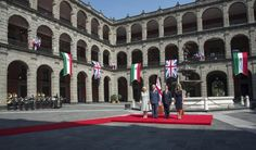 Prince Charles, Prince of Wales and Camilla, Duchess of Cornwall receive an official welcome from President Enrique Pena Nieto and the First Lady Anjelica Rivera at the Palacio National on November 3, 2014 in Mexico City, Mexico. The Royal Couple are on the second day of a four day visit to Mexico as part of a Royal tour to Colombia and Mexico. (Photo by Arthur Edwards
