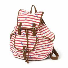 Striped Anchor Backpack I love this but it wont let me buy it crying sad mad p oed