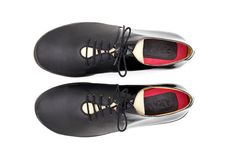 Classic black shoes flat sneakers Hematite Sneakers by ARAMAshoes, $225.00