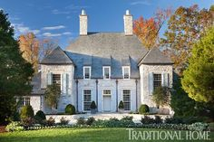 Stone House with Lovely, Light Palette   Traditional Home