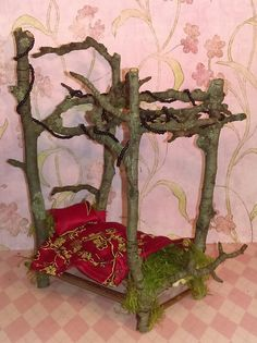Hey, I found this really awesome Etsy listing at https://www.etsy.com/listing/484228023/the-oriental-miniature-faerie-bed