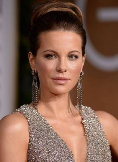 Kate Beckinsale bun Hairstyles on red carpet