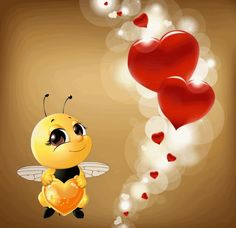 Animated Smiley Faces, Animated Heart, Animated Love Images, Bambi Disney, Disney Art, I Love You Honey, Cute Good Morning Quotes, Bee Pictures, Hug Gif