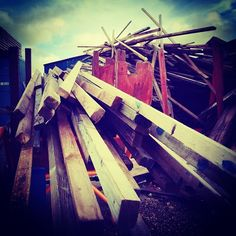 Shipbuilding … The discarded wood from wooden boats. #wood #shipbuilding #boat #ship #autumn #ligs #cosy #sky #marina #shipyard #angular #ar...