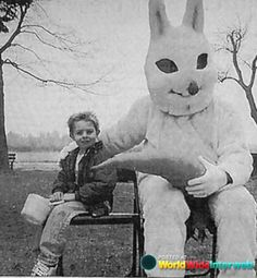 Vintage Scary Easter Bunny | Creepy Easter Bunnies Bunny Scary East Wtf