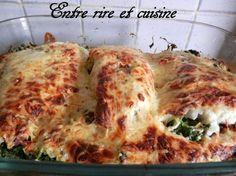 Filets de Cabillaud aux Epinards, sauce au Muscat