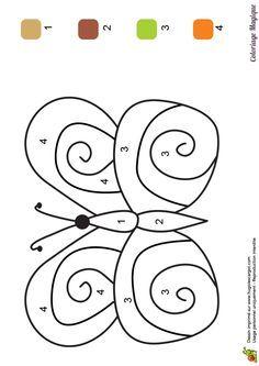 6 coloriages magiques d'Abeille pour travailler le