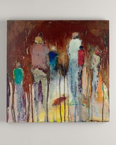 """""""Family Reunion"""" Abstract Giclee, Multi Colors - Neiman Marcus"""
