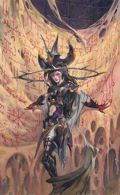 """""""Archenemy"""" by Jesper Ejsing   Magic : The Gathering   #Fantasy #DangerousWomen"""