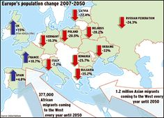 Europe's population change: Click to enlarge