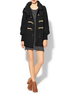 Free People Wooly Toggle Coat - Black Review Buy Now