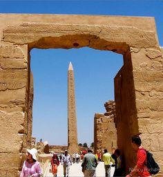 Obélisque, temple de Karnak, Égypte.