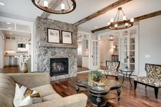 Luxury Home - traditional - Living Room - Minneapolis - Divine Custom Homes