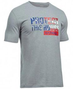 b0409c15 Under Armour Freedom Protect This House T-Shirt for Men - Steel Light  Heather/Red - XL