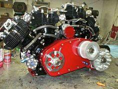 Vincent twin motors.