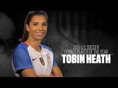 Tobin Heath: 2016 U.S. Soccer Female Player of the Year Skillful. All words that have been used to describe the 2016 U.S. Soccer Female Player of the Year, Tobin Heath. Tobin Heath, Player Card, Soccer Tips, Soccer Ball, Soccer Usa, Soccer Training, One Team, Soccer Players, Role Models