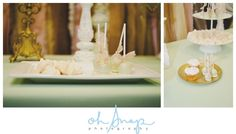 Wedding Desserts Table in Mint Green, Blush Pink and Gold.   Photographer | Oh Snap Photography  www.ohsnapphotography.ca  Desserts | Sugared Moments www.sugaredmoments.ca