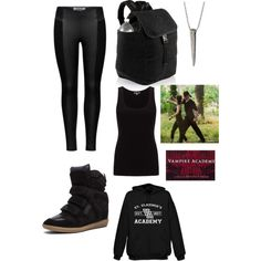 Rose Hathaway Inspired Outfit by sunny-baudelaire on Polyvore featuring Jigsaw, ONLY and Isabel Marant