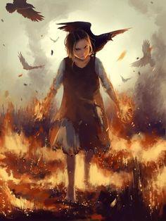 девочка рисунок