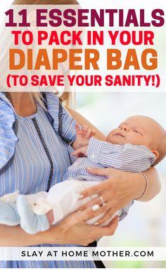 Diaper Bag Essentials #diaperbag #newbornessentials #slayathomemother #babyregistry - SLAYathomemother.com